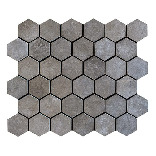 Bosphorus Honed Hexagon Marble Mosaics 10 3/8x12