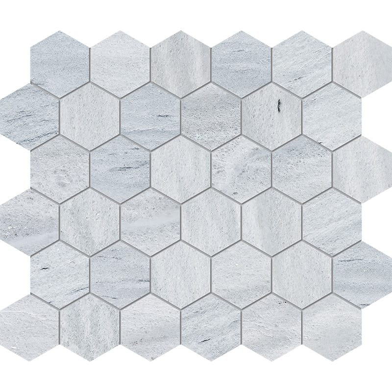 Neptune White Honed Hexagon Marble Mosaics 10 3/8×12