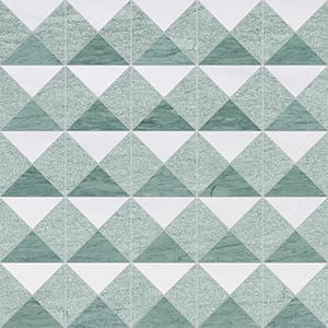 Verde Capri, Snow White Multi Finish Devon Marble Mosaics 12 1/2x12 1/2
