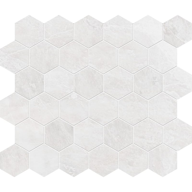 Iceberg Polished Hexagon Marble Mosaics 10 3/8×12