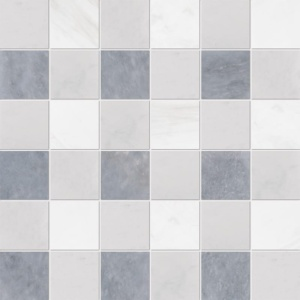 Allure Light, Snow White, Glacier Honed 2x2 Marble Mosaics 12x12