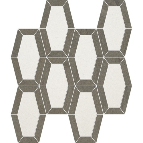 Champagne, Bosphorus Honed Lincoln Limestone Mosaics 10 1/4x12 13/16