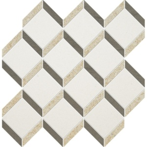 Champagne, Seashell, Bosphorus Honed Steps 3d Limestone Mosaics 14 9/16x14 15/16