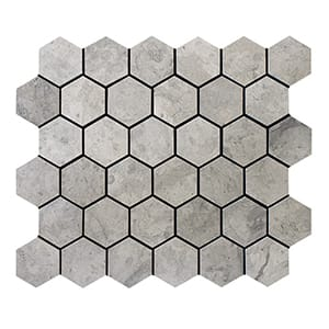 Britannia Honed Hexagon Limestone Mosaics 10 3/8x12
