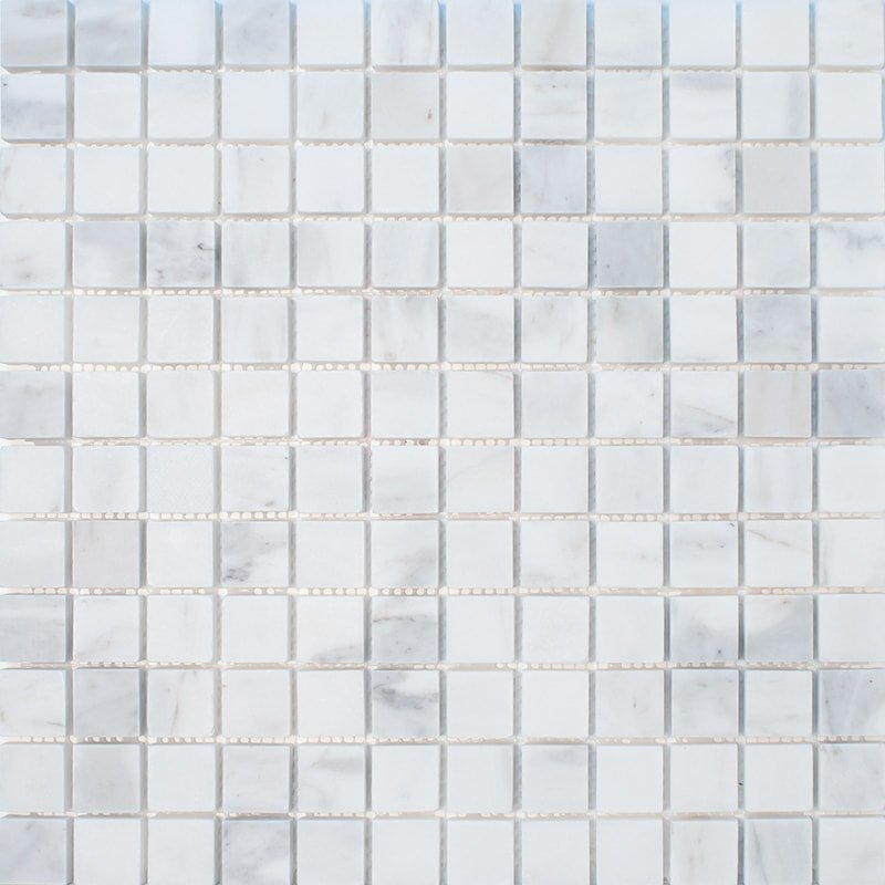 Calacatta Gold Royal Honed 1×1 Marble Mosaics 12×12