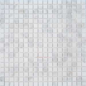 Calacatta Gold Royal Polished 5/8x5/8 Marble Mosaics 12x12
