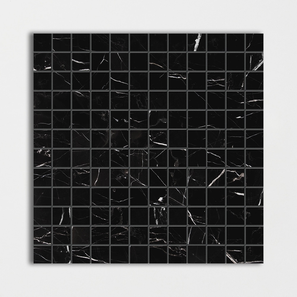Black Honed 12x12 1x1 Marble Mosaics