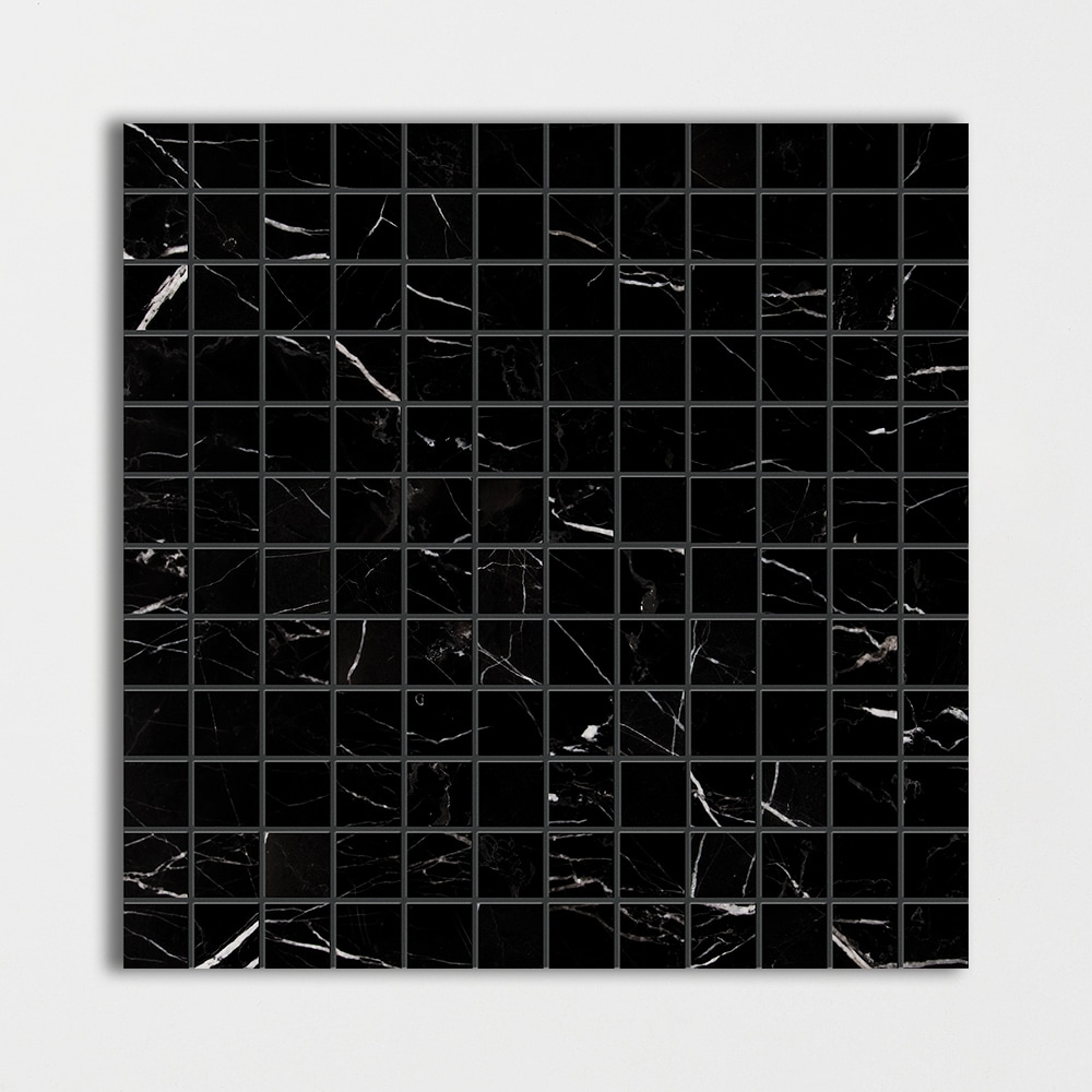 Black Polished 12x12 1x1 Marble Mosaics