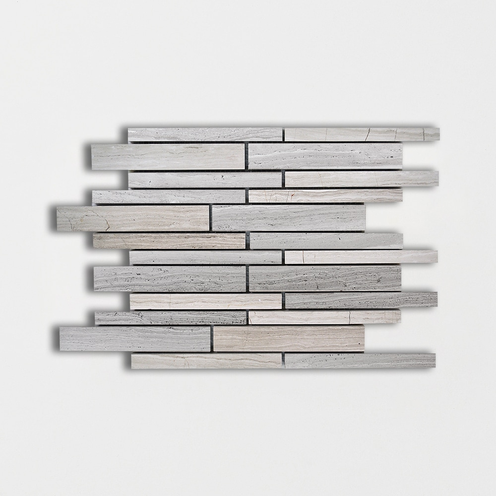 Haisa Light Honed Staggered Joint Marble Mosaics 9×12