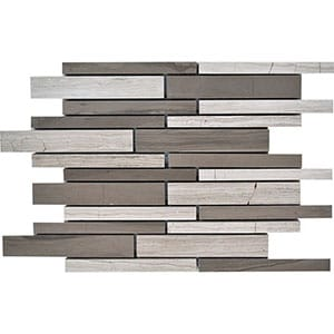 Haisa Blend Honed Staggered Joint Marble Mosaics 9x12