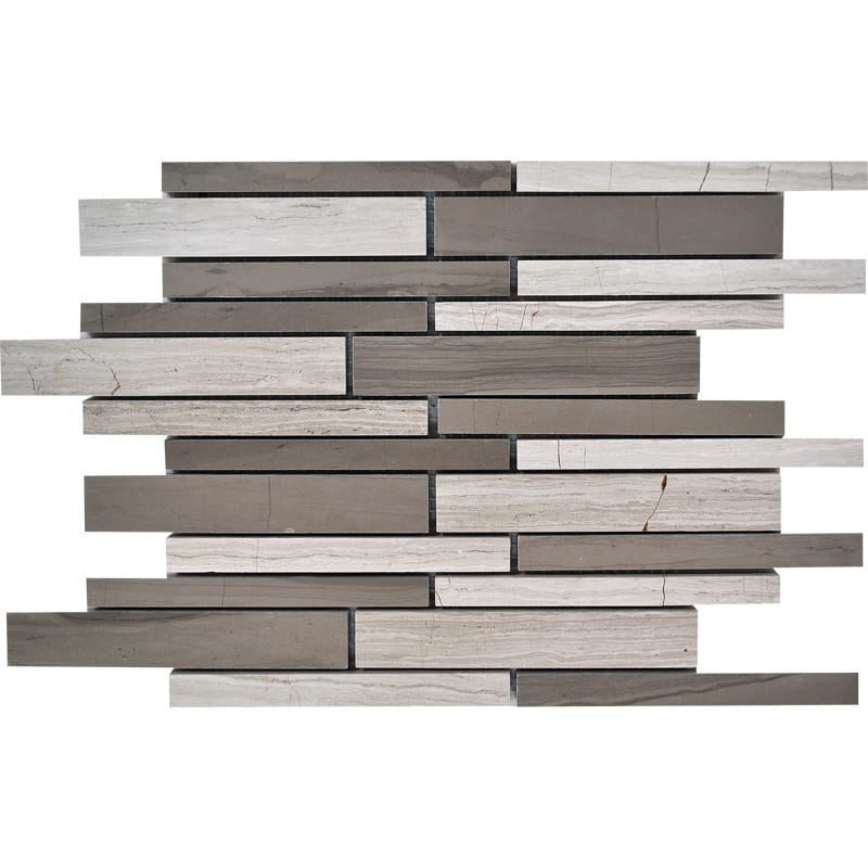 Haisa Blend Honed Staggered Joint Marble Mosaics 9×12