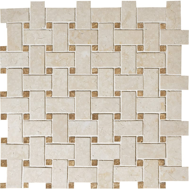Alex Cre&paradise Honed 12x12 Basket Weave Marble Mosaics