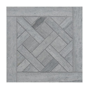 Haisa Blue Honed Parquet De Chantilly Marble Mosaics 8 1/2x8 1/2