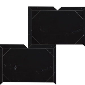 Black Honed Serie Parquet Marble Waterjet Decos 12 1/4x16 3/16