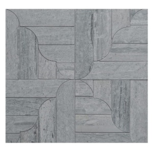 Haisa Blue Honed Banter Parquet Marble Mosaics 12 1/16x12 1/16