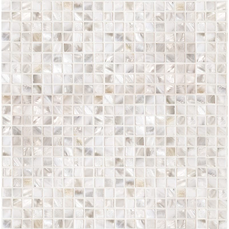 Mother Of Pearl Polished 1/2×1/2 Iridescent Shell Mosaics 12×12