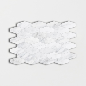 Calacatta Bella Polished Elongated Hexagon Marble Mosaics 10x12 1/4