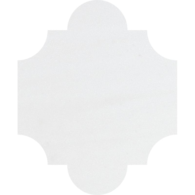 Aspen White Honed San Felipe Marble Waterjet Decos 8×9 3/4