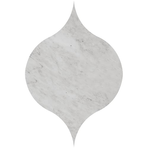 Avenza Honed&polished Winter Leaf Marble Waterjet Decos 4 7/8x6 13/16