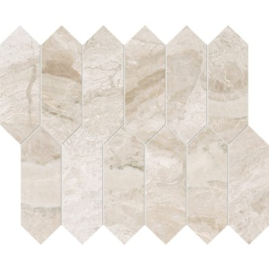 Diana Royal Polished Medium Picket Marble Waterjet Decos 13 3/16x11 1/16