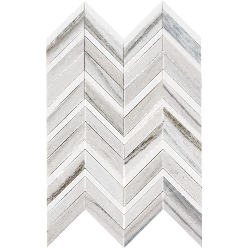 Skyline Light Honed Amp Polished Chevron Fusion Marble