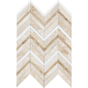 Diana Royal Honed&polished Chevron Fusion Marble Mosaics 16x11 7/8