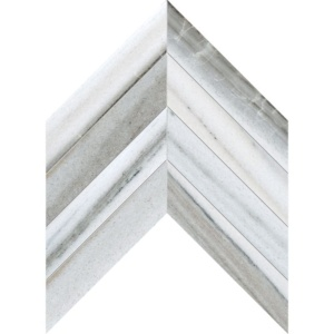Skyline Vein Cut Polished Chevron Marble Waterjet Decos 13x10