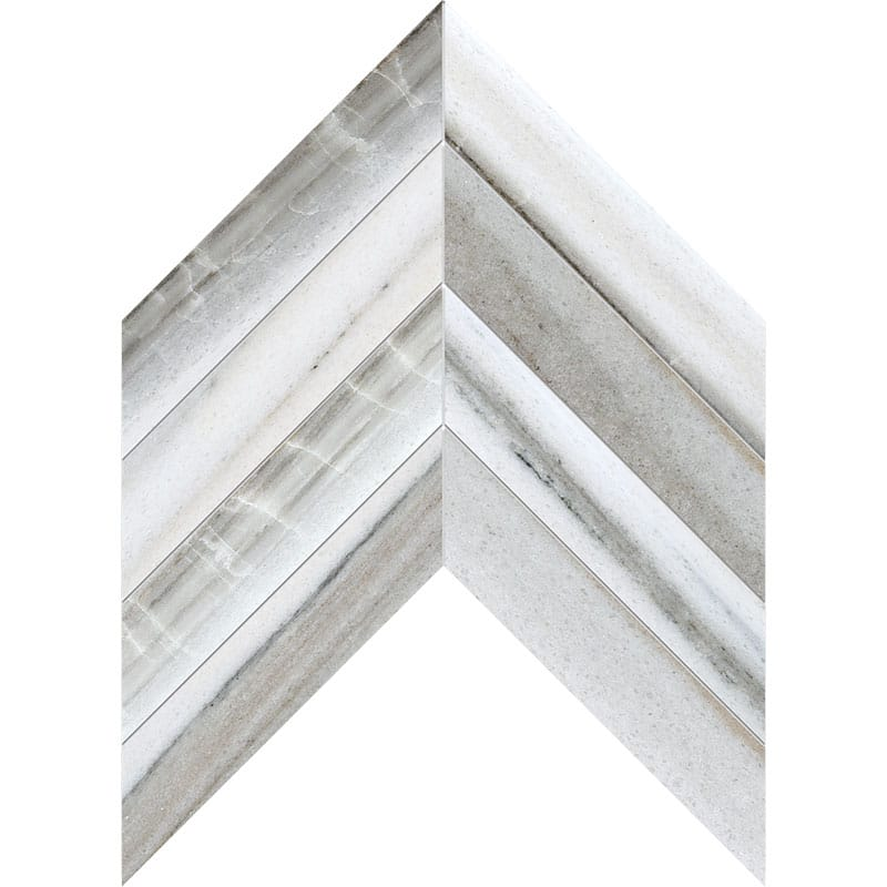 Skyline Vein Cut Honed Chevron Marble Waterjet Decos 13×10
