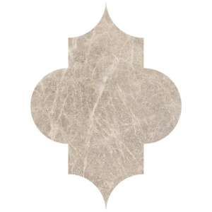 Brown Leather Arabesque Marble Waterjet Decos 6x8 1/4