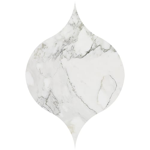 Calacatta Gold Polished Winter Leaf Marble Waterjet Decos 4 7/8x6 13/16