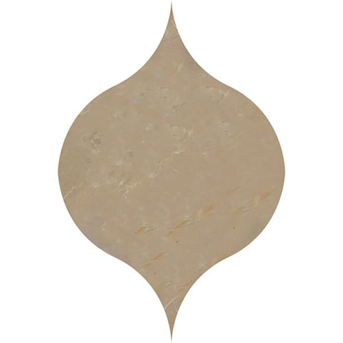 Sable Honed Winter Leaf Marble Waterjet Decos 4 7/8x6 13/16