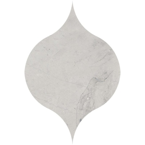 Britannia Honed Winter Leaf Marble Waterjet Decos 4 7/8x6 13/16