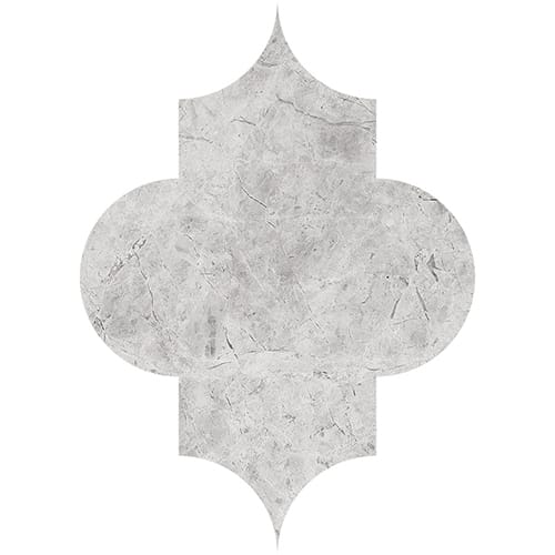 Silver Shadow Honed Arabesque Marble Waterjet Decos 8x11