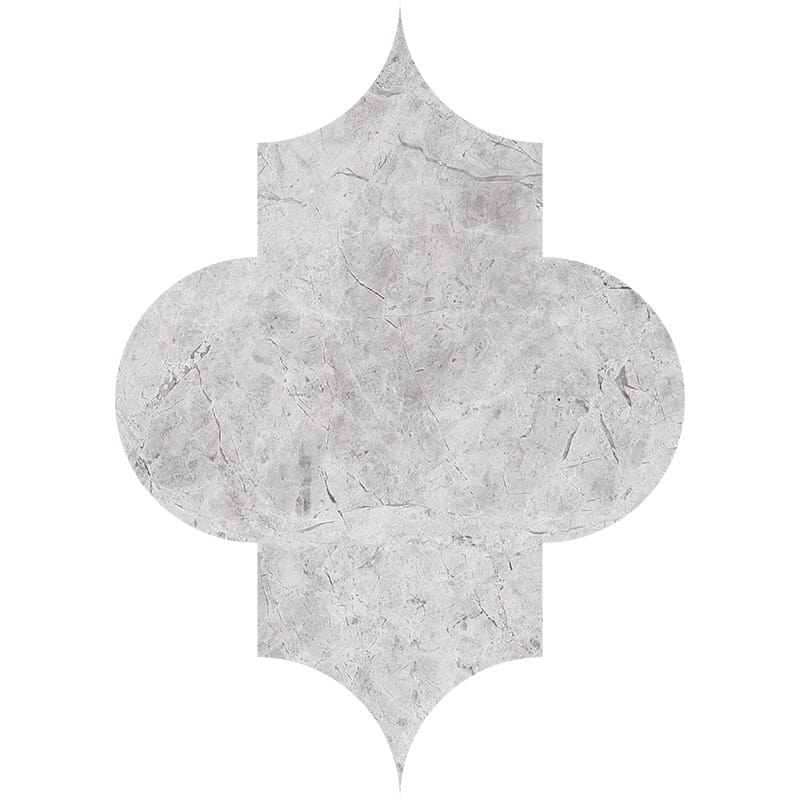 Silver Shadow Honed Arabesque Marble Waterjet Decos 8×11
