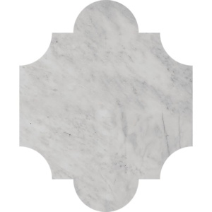 Avenza Honed San Felipe Marble Waterjet Decos 8x9 3/4