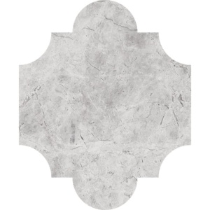 Silver Shadow Honed San Felipe Marble Waterjet Decos 8x9 3/4