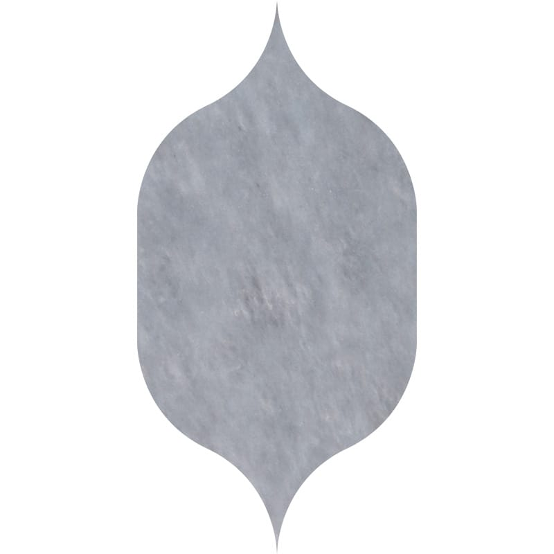 Allure Light Polished Gothic Arabesque Marble Waterjet Decos 4 7/8×8 13/16