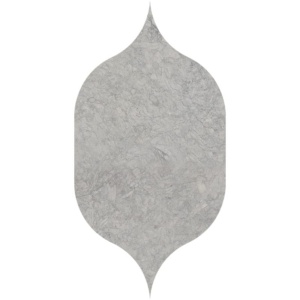 Britannia Dark Honed Gothic Arabesque Limestone Waterjet Decos 4 7/8x8 13/16