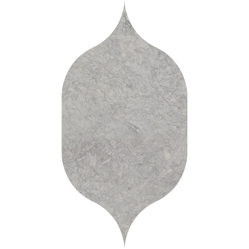 Britannia Dark Honed Gothic Arabesque Limestone Waterjet Decos 4 7/8×8 13/16
