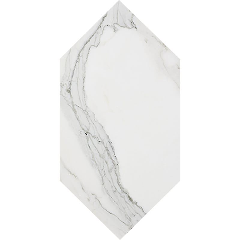 Calacatta Gold Extra Polished Large Picket Marble Waterjet Decos 6×12