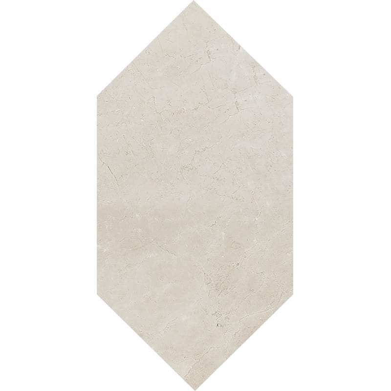 Crema Marfil Polished Large Picket Marble Waterjet Decos 6×12