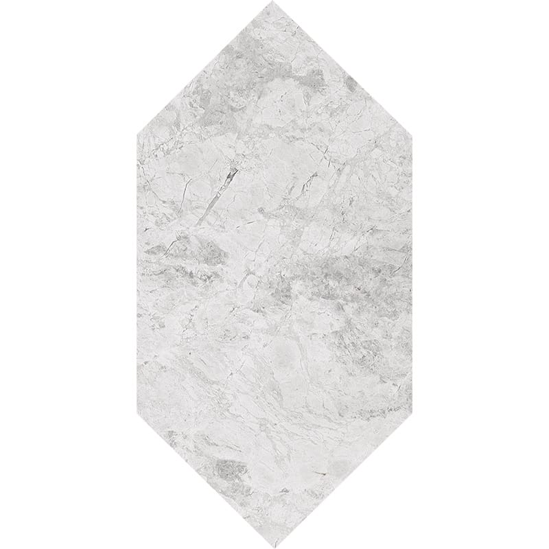 Silver Clouds Polished Large Picket Marble Waterjet Decos 6×12