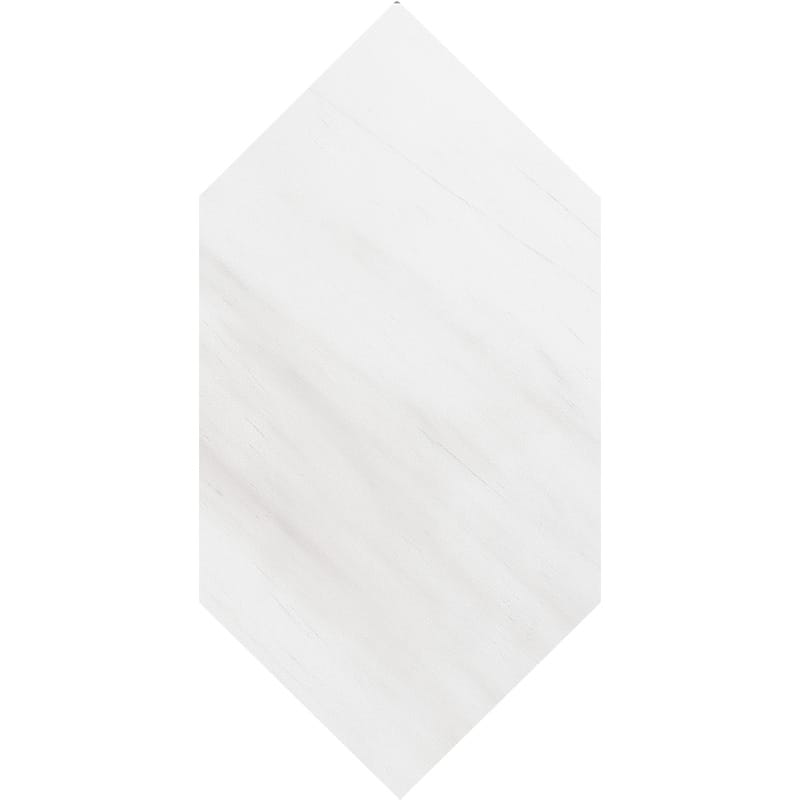 Snow White Honed Large Picket Marble Waterjet Decos 6×12
