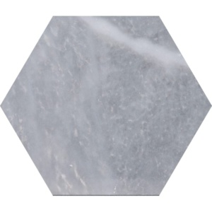 Allure Light Polished Hexagon Marble Waterjet Decos 5 25/32x5