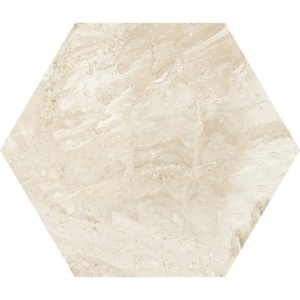 Diana Royal Polished Hexagon Marble Waterjet Decos 5 25/32x5
