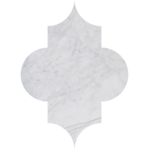 Avenza Honed Arabesquette Marble Waterjet Decos 6x8 1/4