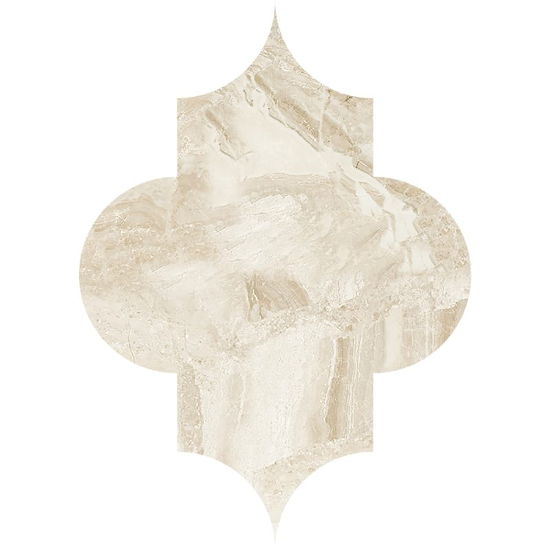 Diana Royal Polished Arabesquette Marble Waterjet Decos 6×8 1/4