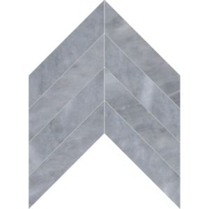 Allure Light Polished Chevron Marble Waterjet Decos 13x10