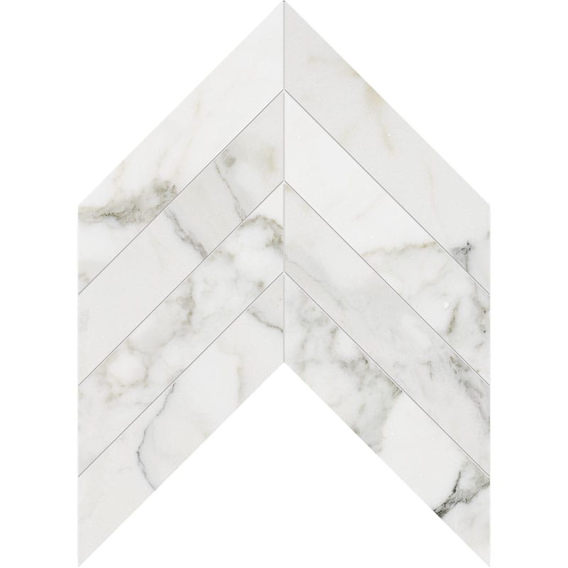 Calacatta Gold Extra Polished Chevron Marble Waterjet Decos 13×10