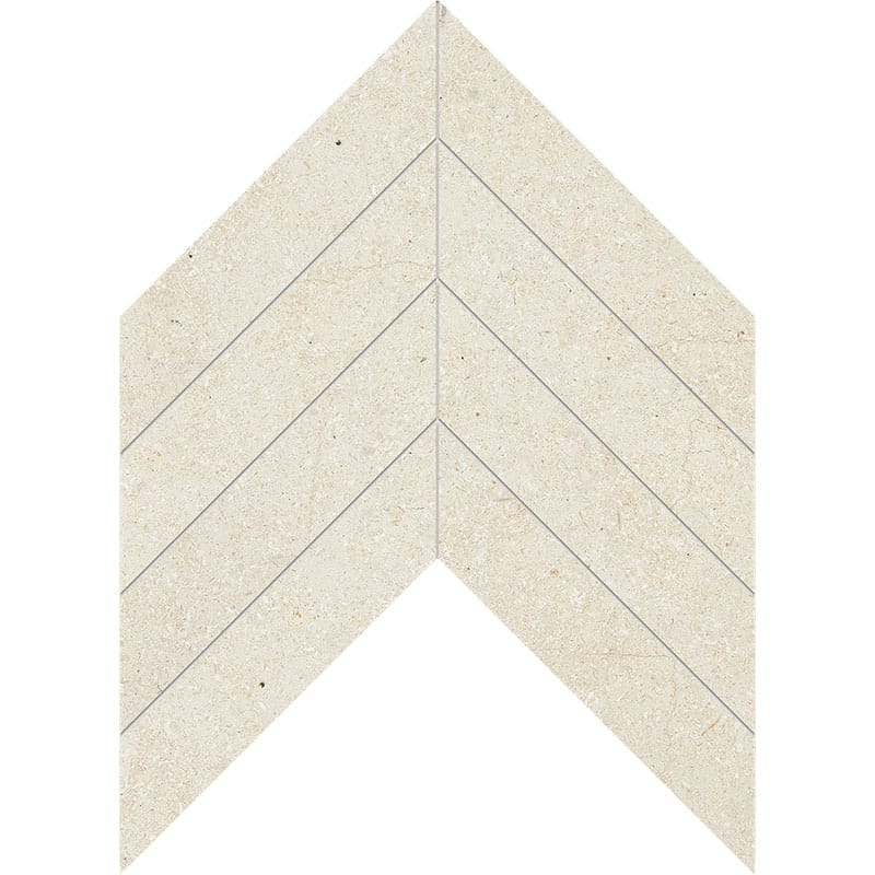 Casablanca Honed Chevron Limestone Waterjet Decos 13×10